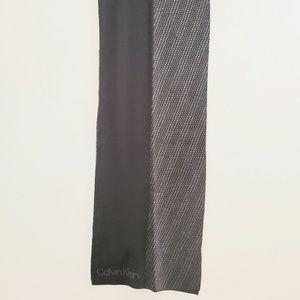Other - Calvin Klein men's grey & black scarf